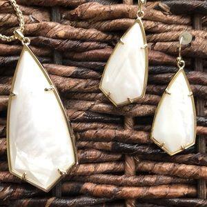 Kendra Scott Carla and Carole set in white pearl